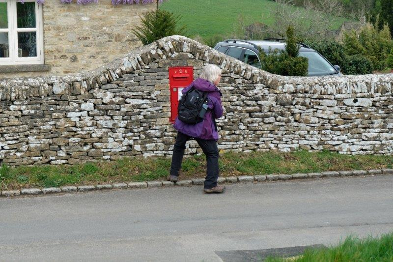 Where Lenneke collects another post box (she photographs them)