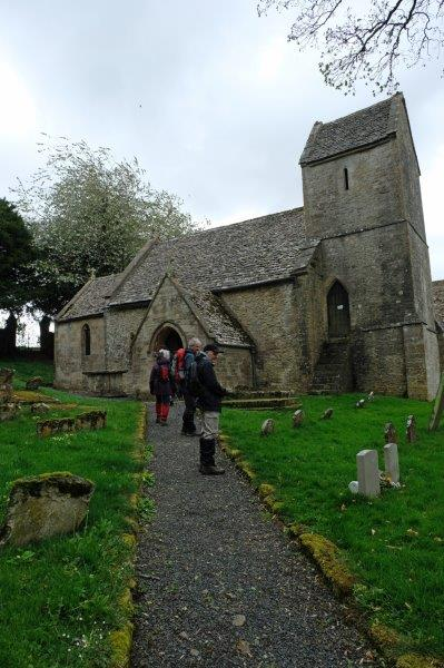Arriving at Syde Church
