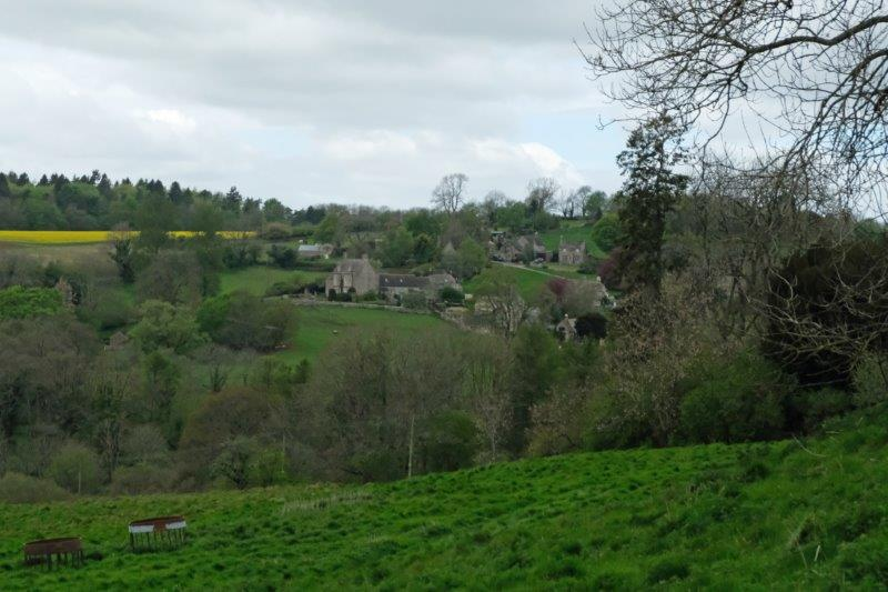 Views to Caudle Green across the valley as we continue