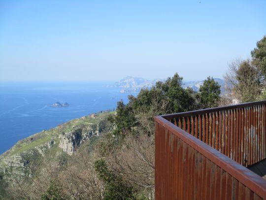 Views out along the Sorrento peninsula to Capri