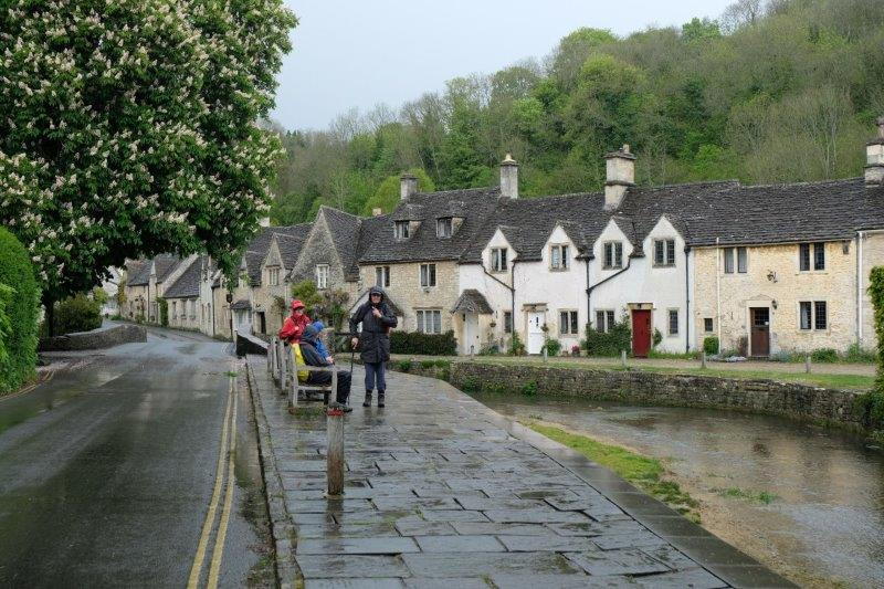 Past the famous row of cottages