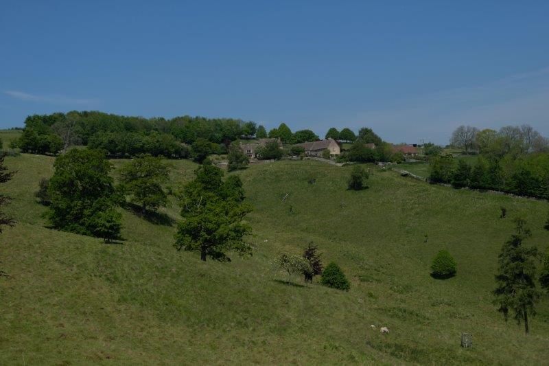 The farm across the valley