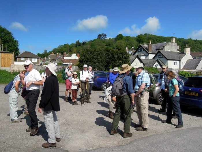 A lovely May morning as 22 assemble for our walk