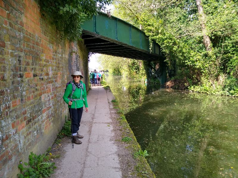 Passing under a skew railway bridge, part of the old line from Stonehouse to Nailsworth