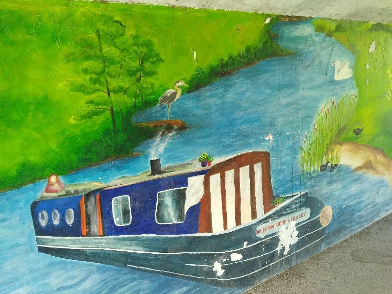 A very realistic mural done by William Morris College