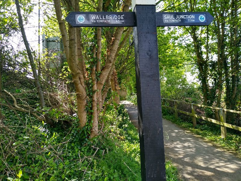 One of the new smart signposts