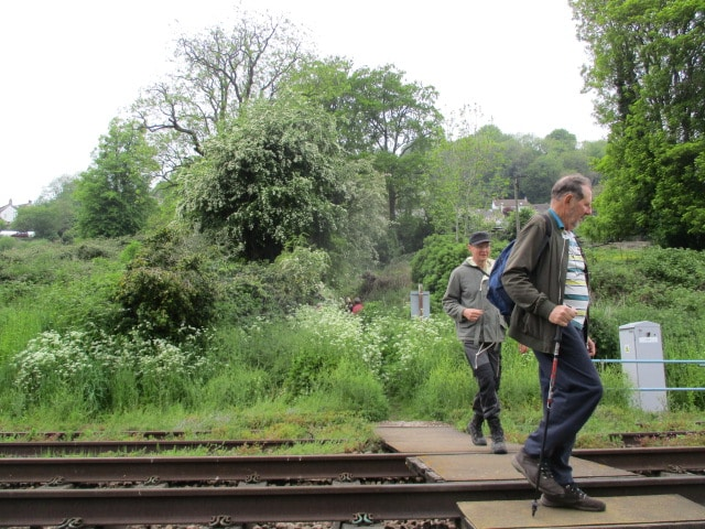 We cross the railway line. Our visitor has come from Durban, South Africa.