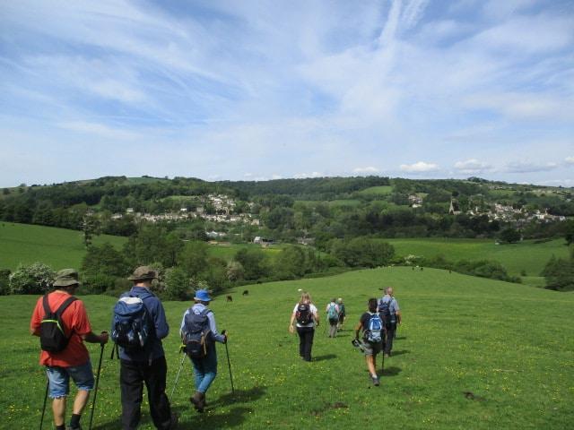 We head downhill to Little Britain Farm