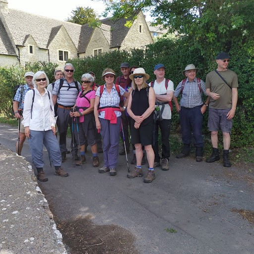Sue helped two Australian visitors in Sapperton who took a group photo.