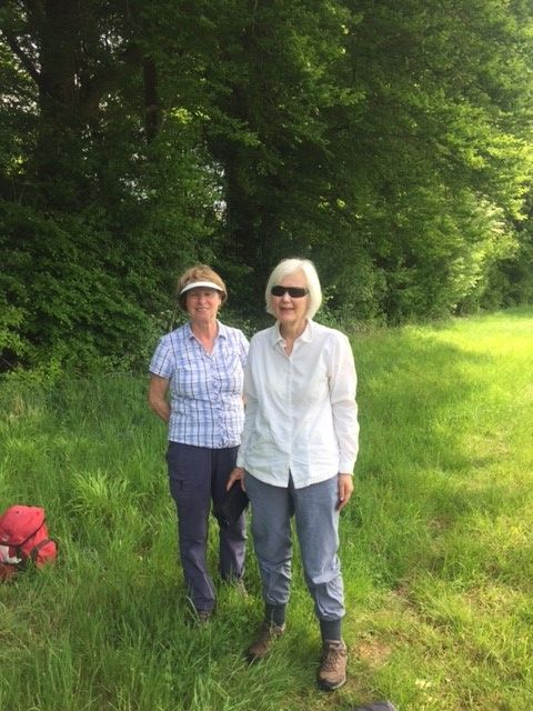 Richard turned up to lead his walk, despite a family bereavement, but Jill and Sue offered to lead a version for him.