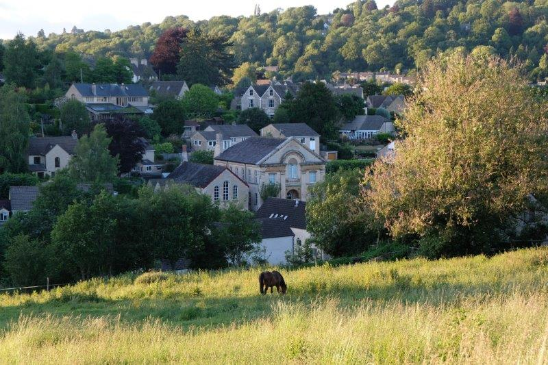 Looking down on Nailsworth
