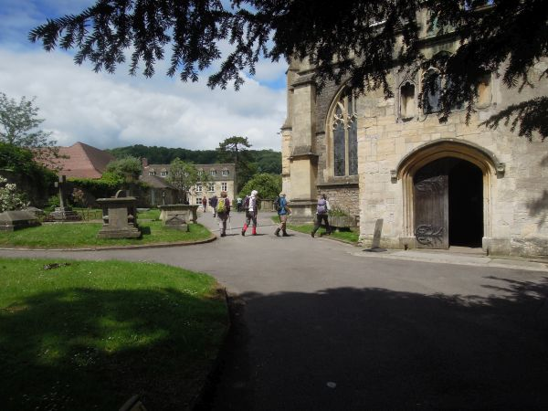 We finish passing the parish church