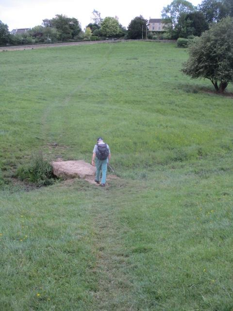 He then strides off on the Cotswold Way