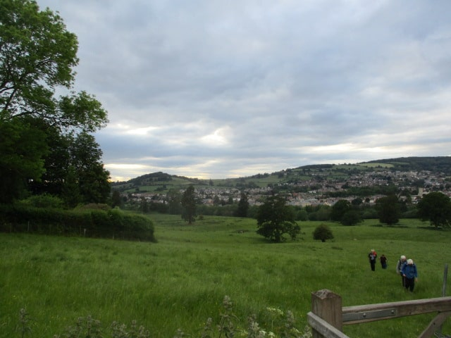 As we climb up to Selsley, we can see Downham Hill across the bypass