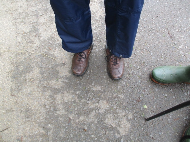 SOMEONE forgot their walking boots, but blamed his wife for not packing the right ones in the car! He got short shrift.