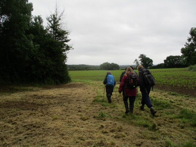 And we set off through fields