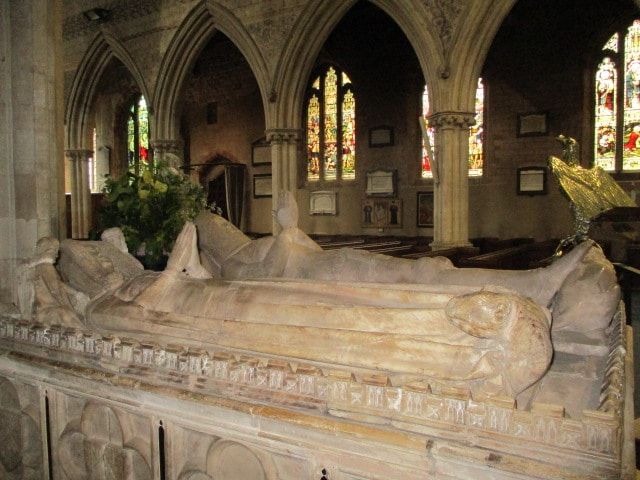 The effigies of Thomas III, 8th Lord Berkeley and his second wife, Katherine