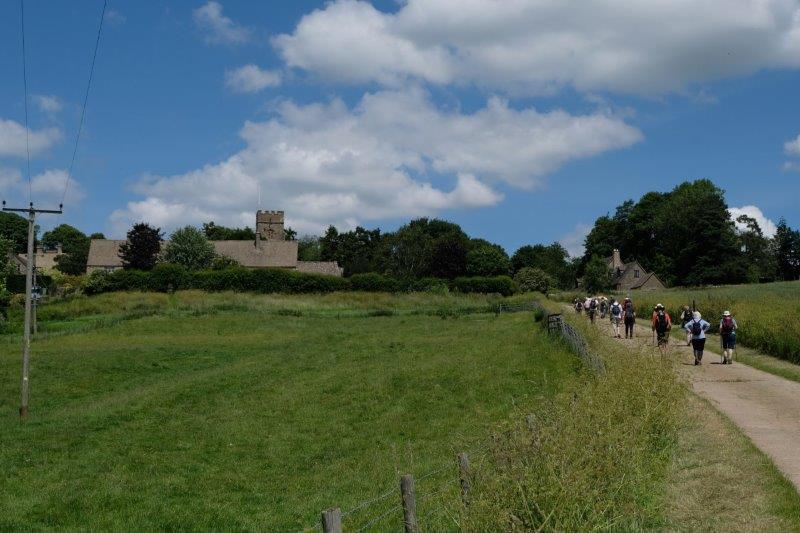 Then uphill into Hampnett