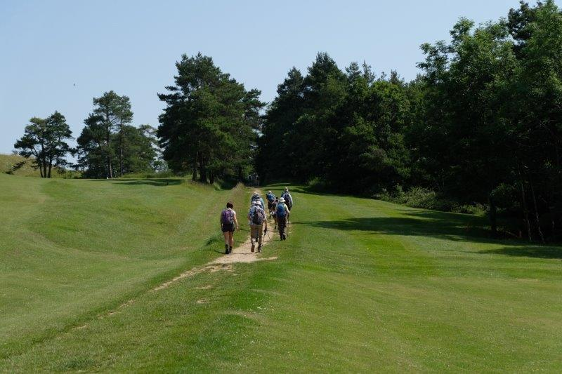 Round the golf course