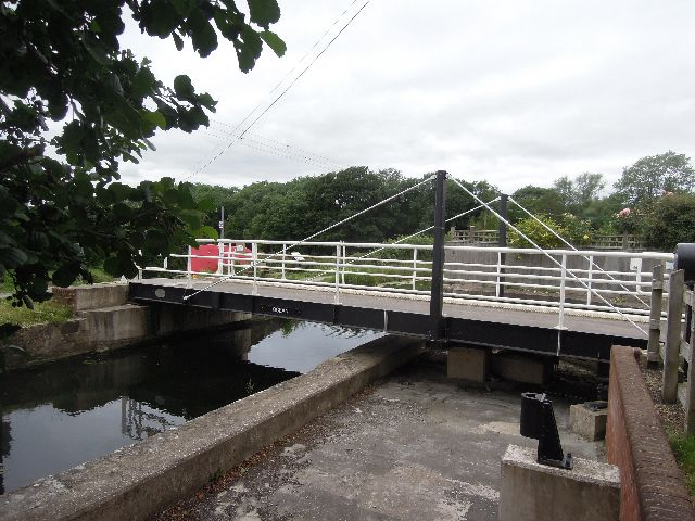 And go along the private road to the swing bridge
