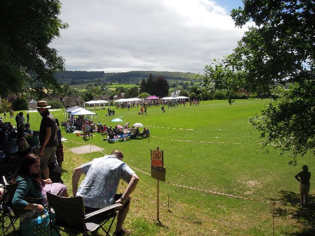 And follow the Cotswold Way past a school sports day