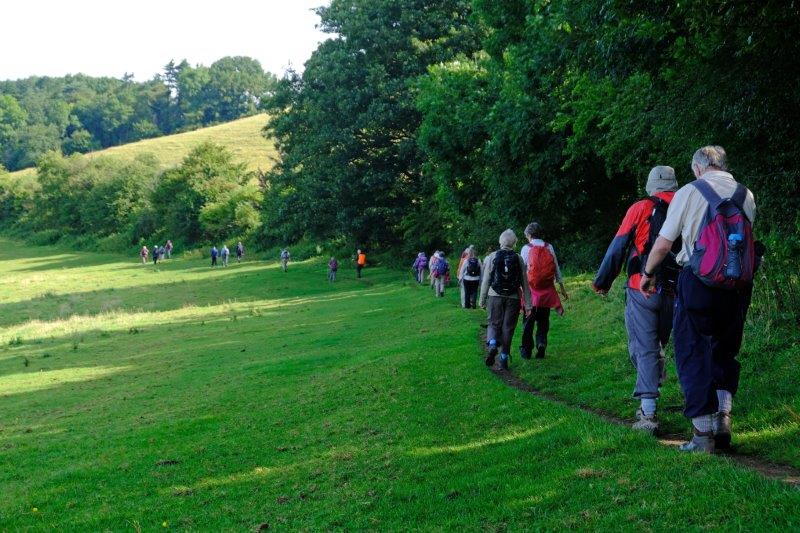We head off along the Cotswold Way
