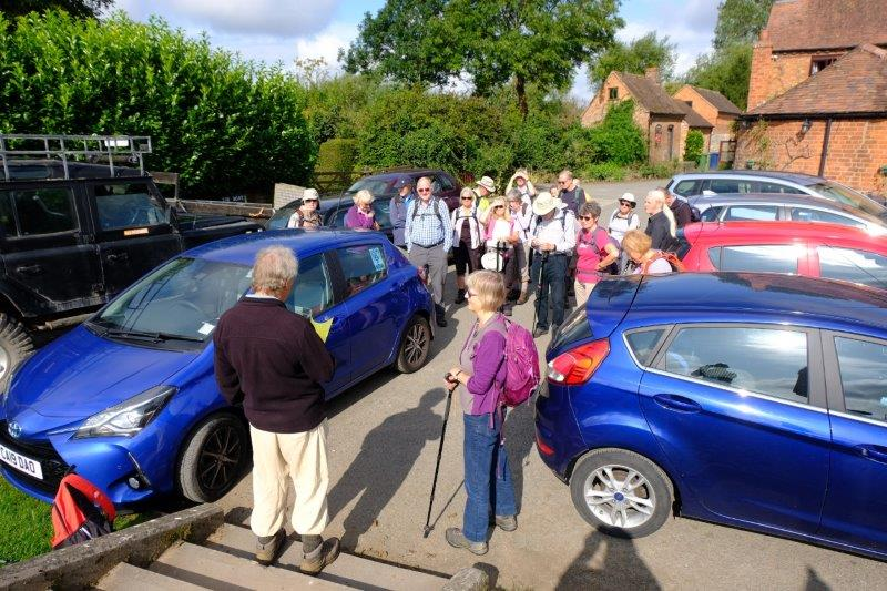 The car park of the Inn. The start of Graham's walk
