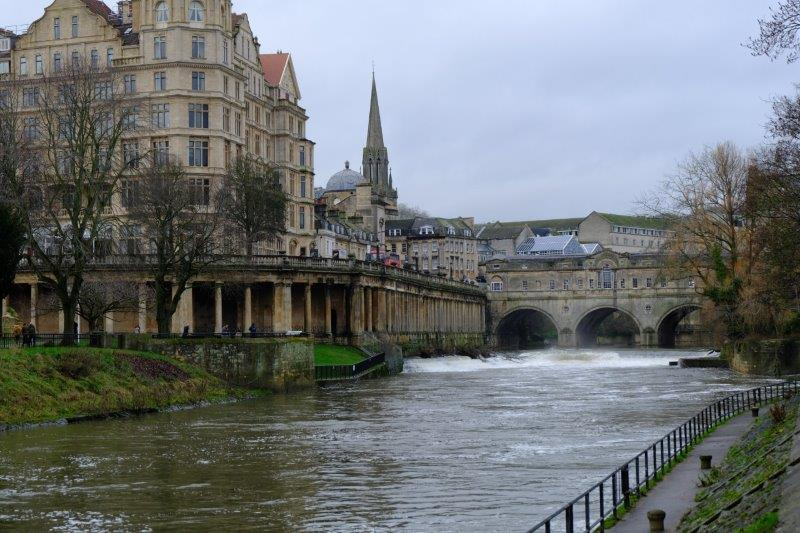 Approaching Pulteney Bridge and Weir