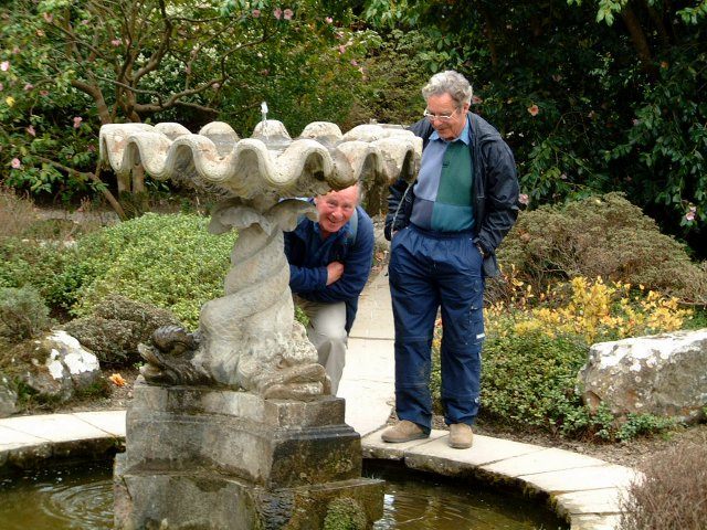 Brian with Bernard at Bodnant in 2003.