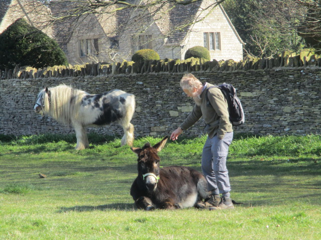 Keith and Alfie, the donkey
