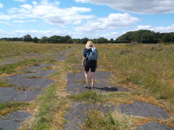 A former runway. 80 years ago WW2 planes would take off and land here. I think Sheelagh is safe.
