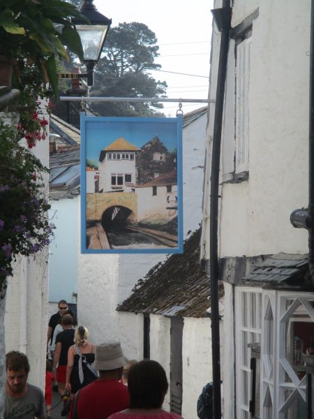 Six of us walk from the holiday park into Polperro