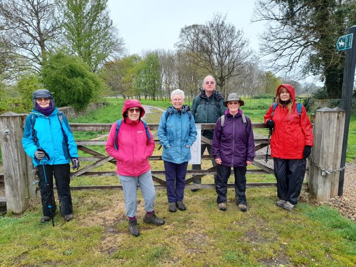 End of damp but scenic and enjoyable 8 mile walk from Latton to Down Ampney and back. Two other walkers, the photographer plus one who did half the walk. Thank you Janet.