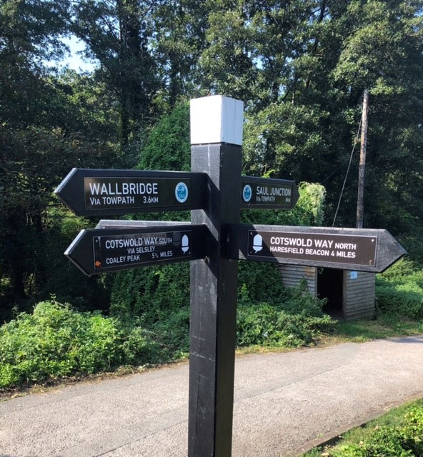 We leave the canal signpost showing the various routes and head left